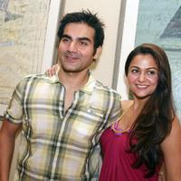 Arbaaz Khan and Amrita Arora at the