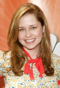 Jenna Fischer at the NBC upfront in New York City.