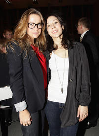 Alexandra Neldel and Sibel Kekilli at the NRW Reception during the day four of the 61st Berlin International Film Festival in Germany.