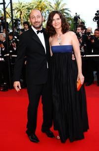 Kad Merad and Guest at the premiere of