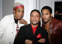 Macy Gray, Benny Medina and Lenny Kravitz at the Benny Medina Birthday Bash.