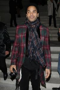 Lenny Kravitz at the Patrick Demarchelier's exhibition Party.