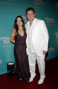Anthony LaPaglia and Gia Carides at the Cabana Club/Sterling Steakhouse at the celebration of 100th episode of