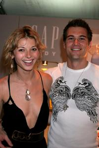 Rachel Perry and Nick Zano at the Gap body booth during the Olympus Fashion Week Spring 2006.