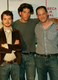 Elijah Wood, Jon Bernthal and Bryan Gunnar Cole at the 2007 Tribeca Film Festival.