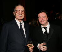 Neil Simon and Nathan Lane at the American Theatre Wing Annual Spring Gala.