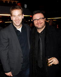 Nathan Lane and Mike Birbiglia at the opening night celebration of