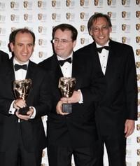 Armando Iannucci, Simon Blackwell and Chris Langham at the British Academy Television Awards 2006.