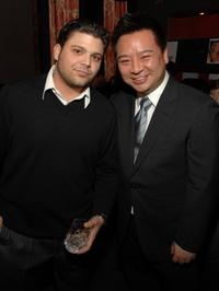 Jerry Ferrara and Rex Lee at the HFPA Salute To Young Hollywood Party.