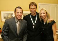 Lance Armstrong, Tony Hawk and Lhotse Merriam at the 21st Annual Great Sports Legends Dinner to benefit The Buoniconti Fund to Cure Paralysis.