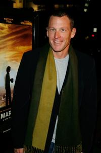Lance Armstrong at the premiere of