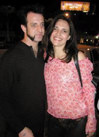 Mike Luce and Ashley Laurence at the Rainbow Bar & Grill restaurant.