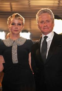Carey Mulligan and Michael Douglas at the premiere of