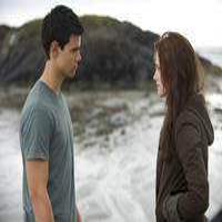 Taylor Lautner and Kristen Stewart in