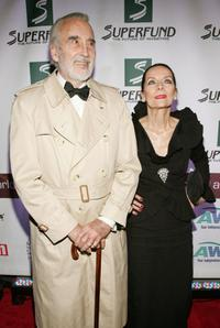 Christopher Lee and his wife Gitte at the 3rd Annual Women's World Awards.