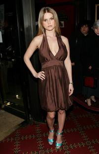 Alice Eve at the premiere of