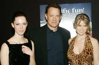Rebecca Hall, Producer Tom Hanks and Alice Eve at the special screening of