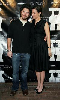 Jake Hoffman and Lisa Hoffman at the launch of Lisa Hoffman's Night and Day 24 hour Skincare line.