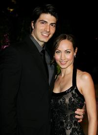 Brandon Routh and Courtney Ford at the 2007 Vanity Fair Oscar Party.