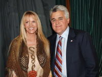 Joan Dangerfield and Jay Leno at the David Geffen School of Medicine.