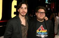 Justin Long and Jonah Hill at the premiere of
