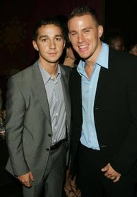 Shia LeBeouf and Channing Tatum at the after party of the premiere of