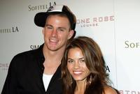 Channing Tatum and Jenna Dewan at the Stone Rose Lounge and Simon LA preview.