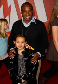 Phill Lewis and guest at the premiere of