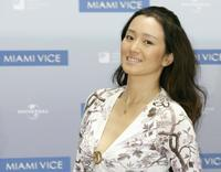 Gong Li at the promotion of the action film