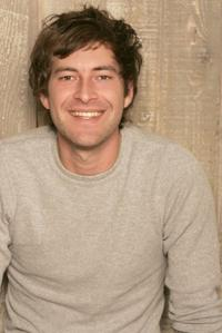 Director Mark Duplass on the set of