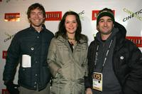 Mark Duplass, Kathryn Aselton and Director Jay Duplass at the Cinetic Media party during the 2005 Sundance Film Festival.