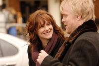 Laura Linney and Philip Seymour Hoffman in