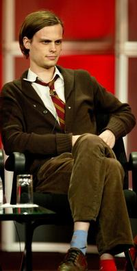 Matthew Gray Gubler at the panel discussion of