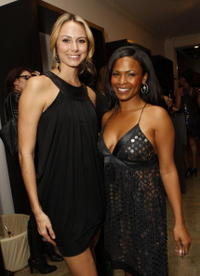 Nia Long and Stacy Keibler at the boutique launch and holiday shopping event.