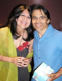 Evelina Fernandez and Sal Lopez at the after party for the 7th Annual Los Angeles Latino International Film Festival.