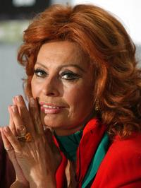 Sophia Loren at the news conference of her film