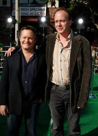 Director Eric Darnell and Tom McGrath at the premiere of