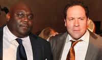 Faizon Love and Director Jon Favreau at the after party of the premiere of