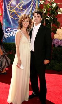 Rosemarie DeWitt and Ron Livingston at the 58th Annual Primetime Emmy Awards.