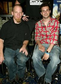Mark Zupan and Keith Cavill at the premiere of