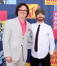 Clark Duke and Seth Green at the 2008 MTV Video Music Awards.