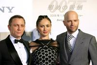 Daniel Craig, Olga Kurylenko and Director Marc Forster at the Japan premiere of