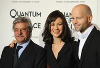 Giancarlo Giannini, Olga Kurylenko and Director Marc Forster at the photocall of