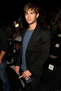 Chace Crawford at the Rock and Republic Spring 2009 fashion show during the Mercedes-Benz Fashion Week.
