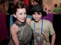 Olesya Rulin and Moises Arias at the after party of the DVD release of