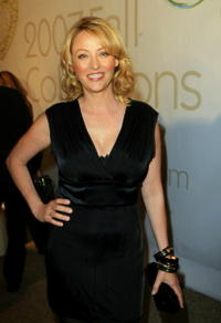 Virginia Madsen at the Mercedes Benz Fashion Week held at Smashbox Studios.