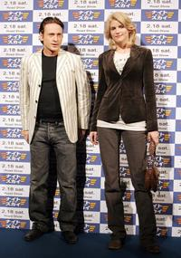 Benoit Magimel and Alice Taglioni at the press conference for promoting
