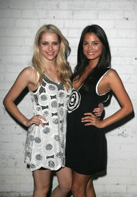 Teresa Palmer and Nathalie Kelley at the Sass & Bide eyewear launch and RAFW wrap party during the third and final day of Rosemount Australian Fashion Week's Transeasonal 2008 Collections.