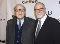 Karl Malden and Gilbert Cates at the opening celebration gala for the newly renovated Geffen Playhouse.