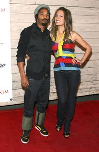Eddie Steeples and Nadine Velazquez at the MAXIM's 2008 Hot 100 party.
